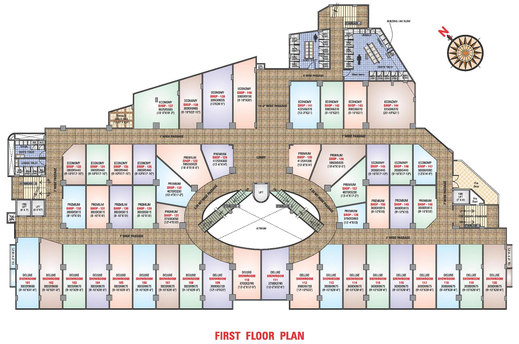 Arihant mall floor plans project 3d views in ratnagiri for Floor plan project