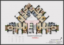 C Tower - Fourth Floor Plan