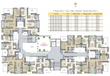 Typical 1st, 3rd, 5th, 7th, 9th Floor Plan