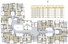 Typical 2nd,4th,6th,8th, 10th Floor Plan
