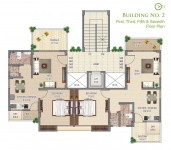 Building no. 2 - 2nd, 4th, 6th Floor Plan