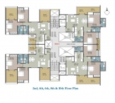 2nd,4th,6th,8th & 10th Floor Plan- B Wing