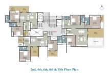 2nd,4th,6th,8th & 10th Floor Plan - A Wing