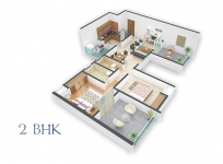 2 BHK Cut Section