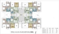 Typical 1st,3rd,5th,7th & 9th Floor Plan - C Wing