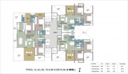 Typical 1st,3rd,5th,7th & 9th Floor Plan - D Wing
