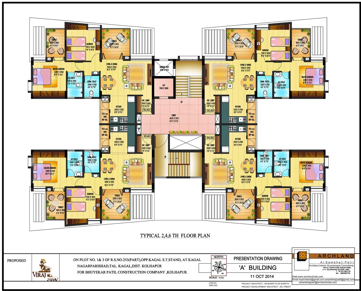 Typical 2nd, 4th, 6th Floor Plan A Bldg.