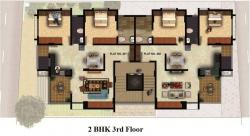 2 BHK - 3rd Floor Plan