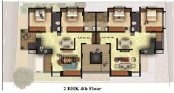 2 BHK -  4th Floor Plan