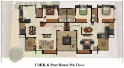 2 BHK & Pent house 5th Floor Plan