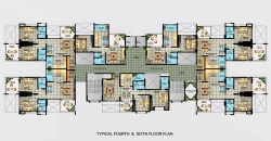 Typical 4th and 6th Floor Plan
