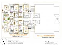 A wing 6th Floor & B wing Terrace Floor Plan