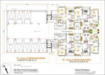 A wing Parking & B wing Ground Floor Plan