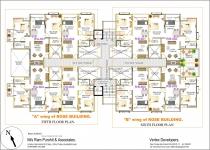 A wing 5th Floor & B wing 6th Floor Plan
