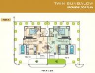 Twin Bungalow Ground Floor Plan