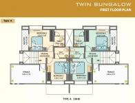 Twin Bungalow First Floor Plan
