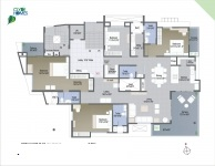 A  Wing 4 BHK - 1st Floor Plan
