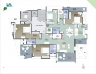 A  Wing 4 BHK - 2nd Floor Plan