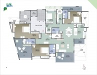 A  Wing 4 BHK -  4th Floor Plan