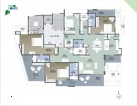 A  Wing 4 BHK - 6th Floor Plan