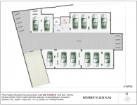 A Wing 4 BHK - Basement Plan