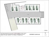 A Wing 4 BHK - Basement Plan
