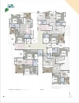 B Wing 2 & 3 BHK - 10th Floor Plan