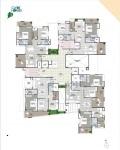 B Wing 2 & 3 BHK - 1st Floor Plan