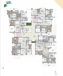 B Wing 2 & 3 BHK - 8th Floor Plan