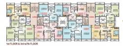 Y Type - 1st Floor & 3rd to 7th Floor Plan