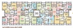 Z Type - 1st Floor & 3rd to 5th Floor Plan