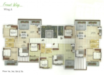 Wing A - 1st, 3rd, 5th, 7th Floor Plan