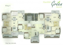 Wing A - 2nd, 4th, 6th Floor Plan