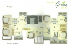 Wing D - 2nd, 4th, 6th Floor Plan