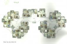 Wing B - 1st, 3rd, 5th, 7th Floor Plan