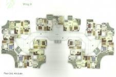 Wing B - 2nd, 4th, 6th Floor Plan