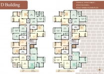 D Building - Stilt 1st 2nd 3rd Floor Plan