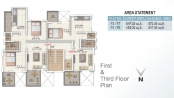 First & Third Floor Plan
