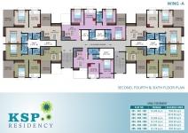 2nd, 4th, 6th Floor Plan
