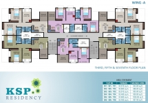3rd, 5th, 7th Floor Plan