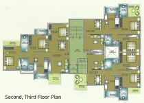 Second, Third Floor Plan
