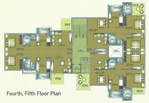 Fourth, Fifth Floor Plan