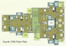 Fourth, Fifth Floor Plan