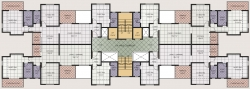 3 BHK Typical Floor Plan For B Building