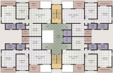 2 BHK Typical Floor Plan For D Building