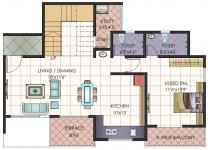 Penthouse Lower Floor Plan