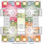 C Bldg. - Typical 1st,3rd,5th,7th Floor Plan