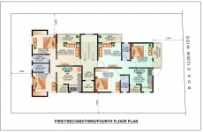 1st, 2nd, 3rd, 4th Floor Plan