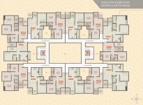 2nd & 4th Floor Plan (North & South Wing)