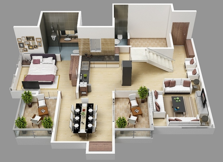 hirashree lake city floor plans project 3d views in kolhapur. Black Bedroom Furniture Sets. Home Design Ideas